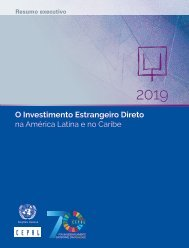 O Investimento Estrangeiro Direto na América Latina e no Caribe 2019. Resumo executivo