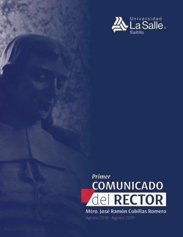 Primer Comunicado del Rector (Informe)