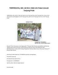 TERPERCAYA, WA +62 811-1564-141 Paket Umroh Tanjung Priok