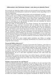 Höhlenschutz in der Fränkischen Schweiz - mehr ... - Franken-Tour