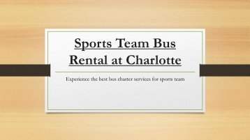 Get Affordable Sports Team Bus Rentals at Charlotte