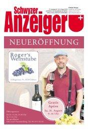 Schwyzer Anzeiger – Woche 35 – 30. August 2019