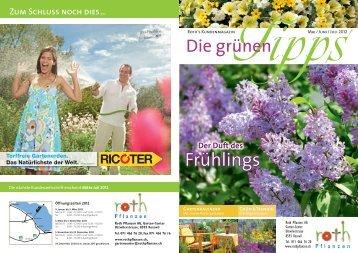Zeit und Wasser sparen - Roth Pflanzen AG, 8593 Kesswil