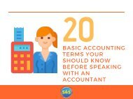 20 Basic Accounting Terms You Should Know Before Speaking With An Accountant