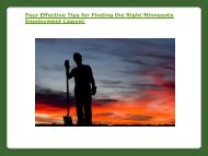 Four Effective Tips for Finding the Right Minnesota Employment Lawyer