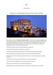Udaipur as a Wedding Destination