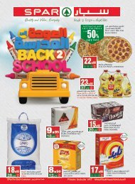 SPAR  flyer from  28th Aug to 3rdSep