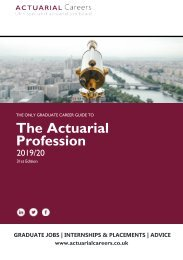 The Actuarial Careers Guide to the Actuarial Profession