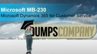 MB-230 Exam Dumps PDF