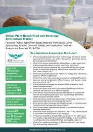 Plant-Based Food and  Beverages Alternatives Market Trends