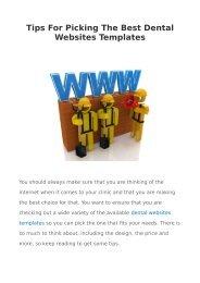 Tips For Picking The Best Dental Websites Templates