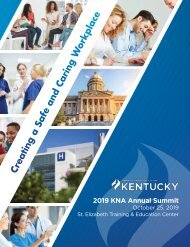 2019 Kentucky Nurses Association Yearbook
