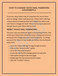 HOW TO CHANGE YAHOO MAIL PASSWORD CONVENIENTLY?