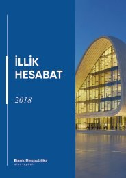 2018 Bank Respublika Annual Report (AZ)