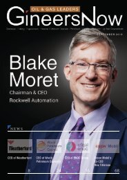 Rockwell Automation's Chairman & CEO, Blake Moret - Oil & Gas Leaders magazine, Sep2019