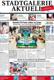 Geballte PS-Power mitten im Center - Stadtgalerie Passau