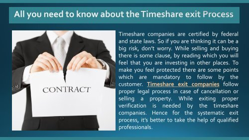 All you need to know about the Timeshare exit Process