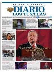Edición de Diario Los Tuxtlas del día 29 de Agosto de 2019