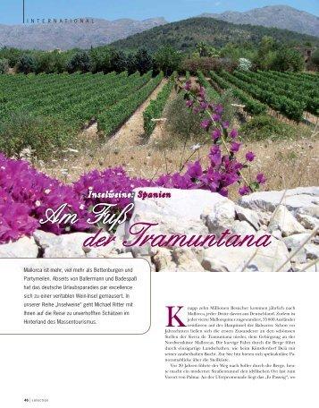 Inselweine: Spanien