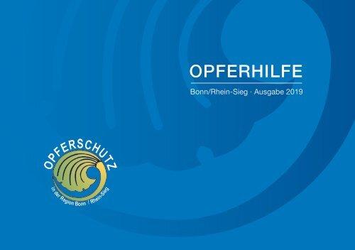 Opferhilfehandbuch Bonn/Rhein-Sieg 2019
