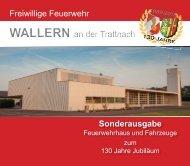 Festschrift - 130 Jahre Freiwillige Feuerwehr Wallern