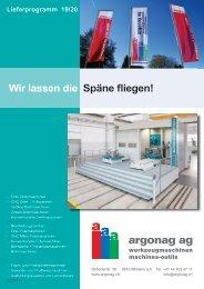 argonag Lieferprogramm september 2019