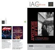 Irving Arts Center September-October Calendar