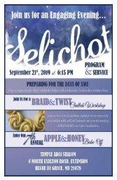 Selichot Bulletin 5780