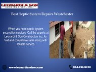 Best Septic System Repairs Westchester