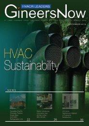 HVAC Sustainability, HVACR Leaders magazine, Sep2019