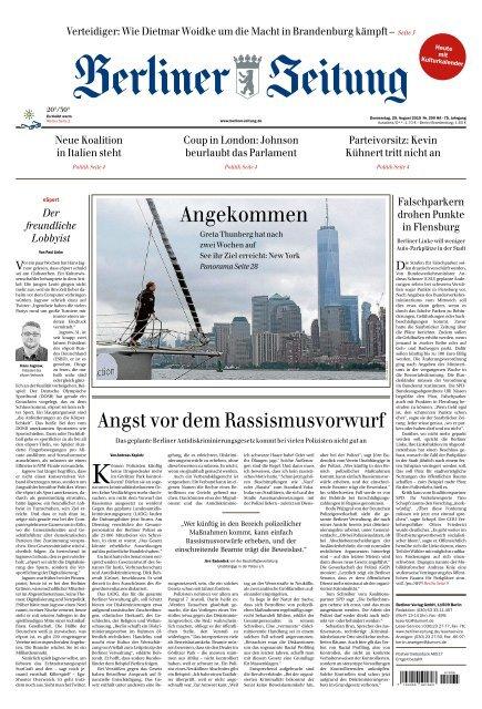 Berliner Zeitung 29.08.2019