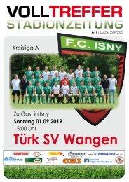 1. Ausgabe Stadionzeitung 2019/20