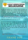 Reasons for Taking Professional Windscreen Chip Repair in Melbourne - Page 6