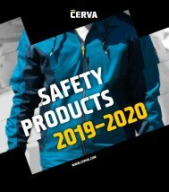 CERVA - Catalogue - Safety Products - 2019-2020 (EN)
