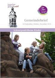 Gemeindebrief Kandel 4-2019