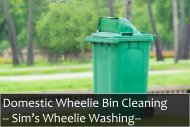 Hire our professionals for Domestic Wheelie Bin Cleaning Service