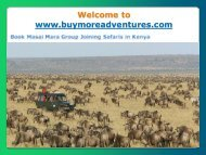 Masai Mara Group Joining Safaris