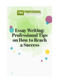 Essay Writing: Professional Tips on How to Reach a Success