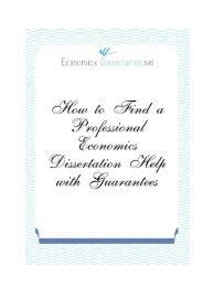 How to Find a Professional Economics Dissertation Help with Guarantees
