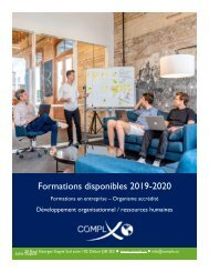 Catalogue de formations 2019-2020