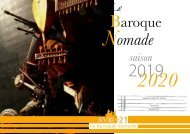 Le Baroque Nomade - programmes 2019-2020