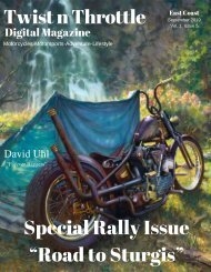 Twist n Throttle Magazine September 2019 Volume 1 Issue 5