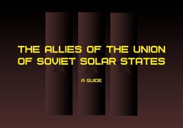 The allies of the Union of Soviet Solar States - A guide