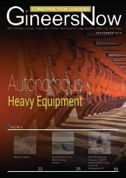 Autonomous Heavy Equipment - Construction Leaders magazine, Sep2019