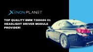 BMW 7305235 Headlight Driver Module By Xenon Planet