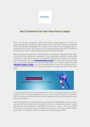 Best Treatment For Your Knee Pain In Jaipur