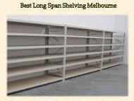 Best Long Span Shelving Melbourne
