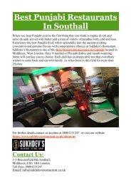 Best Punjabi Restaurants in Southall
