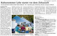 Bericht in der Nordsee-Zeitung vom 31. August 2019