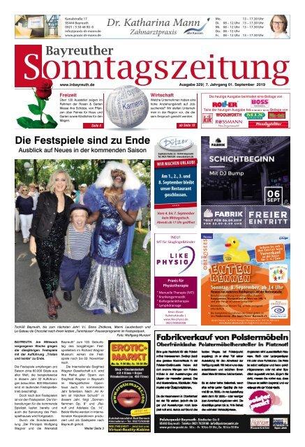 2019-09-01 Bayreuther Sonntagszeitung